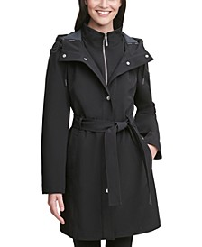 Belted Hooded Raincoat