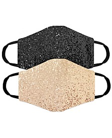 Adult Glitter 2pk Face Masks