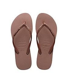 Kids Slim Glitter Flip Flop Sandal