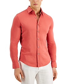 Pique Knit Woven Shirt, Created for Macy's