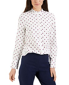 Printed Ruffle-Trim Top, Regular & Petite Sizes, Created for Macy's