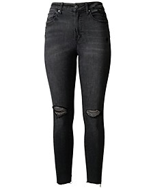 Juniors' High Rise Real Lift Ripped Skinny Jeans