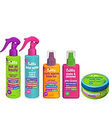 5-Pc. Green Apple Conditioning Detangler, Coconut Oil Leave-In Conditioner, Curl Boost, Glitter Hairspray, Texture Paste Set