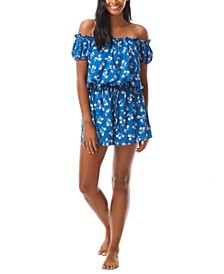 Printed Off-The-Shoulder Cover-Up Romper