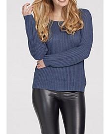 Women's Long Sleeve Boat Neck Sweater