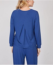 Pleated Back Long Sleeve Loungewear