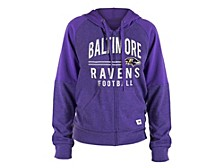 5th and Ocean Baltimore Ravens Women's Team Zip Up Hoodie