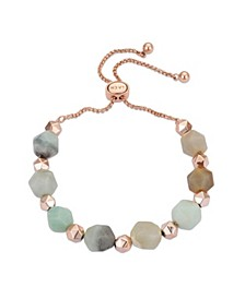 Fine Silver Plated Multi Stone Adjustable Bolo Bracelet