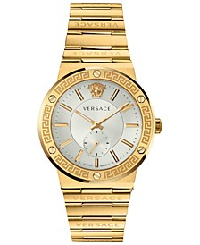 Men's Swiss Gold Ion-Plated Stainless Steel Bracelet Watch 41mm