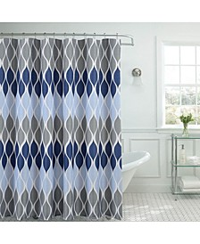 Clarisse Faux Linen Textured Shower Curtain with Hooks Set, 13 Piece