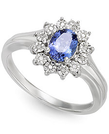 Tanzanite (1/2 ct. t.w.) and Diamond Accent Ring in 10k White Gold