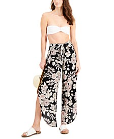 Floral-Print Cover-Up Pants