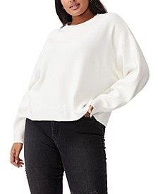 Trendy Plus Size Chloe Oversized Pullover Sweater