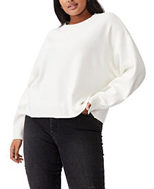 Cotton On Trendy Plus Size Chloe Oversized Pullover Sweater