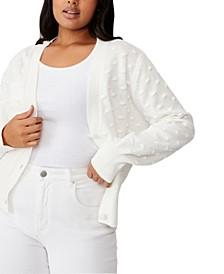 Trendy Plus Size Knobbly Cardi Sweater