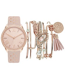Women's Blush Strap Watch 38mm Gift Set