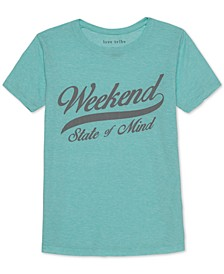 Juniors' Weekend Graphic T-Shirt