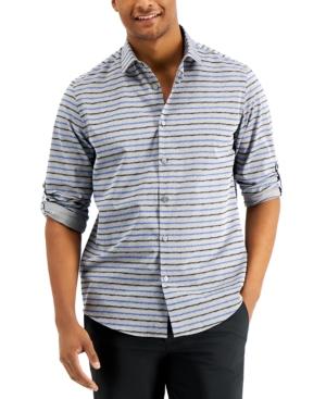 Men's Destin Ikat Striped Shirt