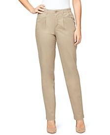 Women's Pleated Chino Pants