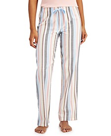 Striped Cotton Pajama Pants, Created for Macy's