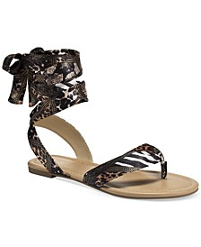 Joleyn Scarf Tie Flat Sandals, Created for Macy's