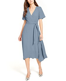 Handkerchief-Hem Wrap Dress, Created for Macy's
