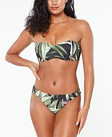 Printed Bandeau Bikini Top & Bottoms, Created for Macy's