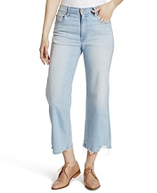 Women's Cropped Wide Leg Jeans