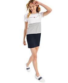 Colorblocked Ringer T-Shirt Dress