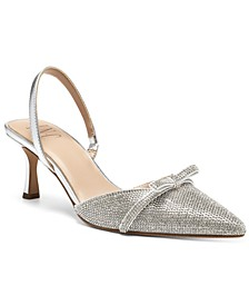 INC Women's Gelsey Slingback Kitten-Heel Pumps, Created for Macy's