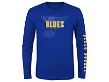 Youth St. Louis Blues Maze Long-Sleeve T-Shirt