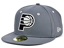 Indiana Pacers Storm Black White Logo 59FIFTY Cap