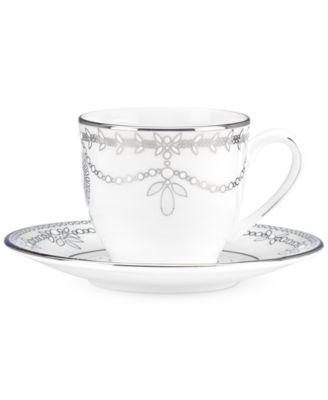 Empire Pearl Espresso Cup and Saucer Set