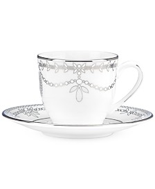 Marchesa by Lenox Empire Pearl Espresso Cup and Saucer Set