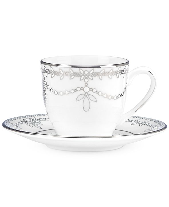 Lenox Marchesa by Empire Pearl Espresso Cup and Saucer Set