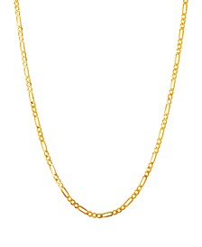 "Polished 22"" Figaro Chain in Solid 10K Yellow Gold"