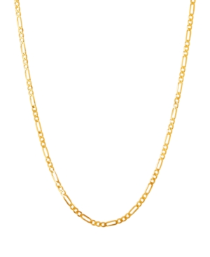 """Polished 22"""" Figaro Chain in Solid 10K Yellow Gold"""