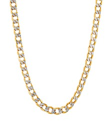 """Polished Diamond Cut 22"""" Curb Chain in 10K Yellow Gold"""