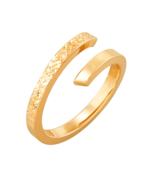 Polished Diamond Cut Bypass Ring in 10K Yellow Gold