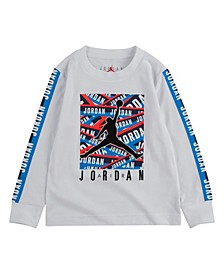 Toddler Boys Taped Up Long Sleeve Tee
