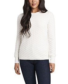 Women's Long Sleeve Textured Knit Sweater