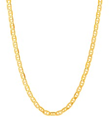 """Polished 22"""" Mariner Chain in Solid 10K Yellow Gold"""