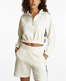Juicy Couture Women's Half Zip Raglan Sweatshirt