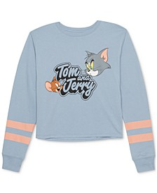 Juniors' Tom & Jerry Graphic Print Top