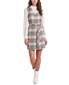 Shayne Layered-Look Plaid Dress, Created for Macy's
