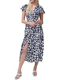 Islanna Crepe Printed Maxi Dress
