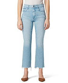 Callie Distressed-Hem Cropped Jeans