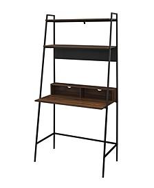 Modern Wood Ladder Computer Desk