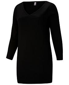 Women's Plus Size Classic Ribbed Body-Contour Dress