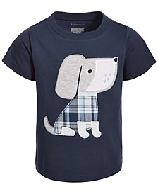 Baby Boys Plaid Dog Cotton T-Shirt, Created for Macy's